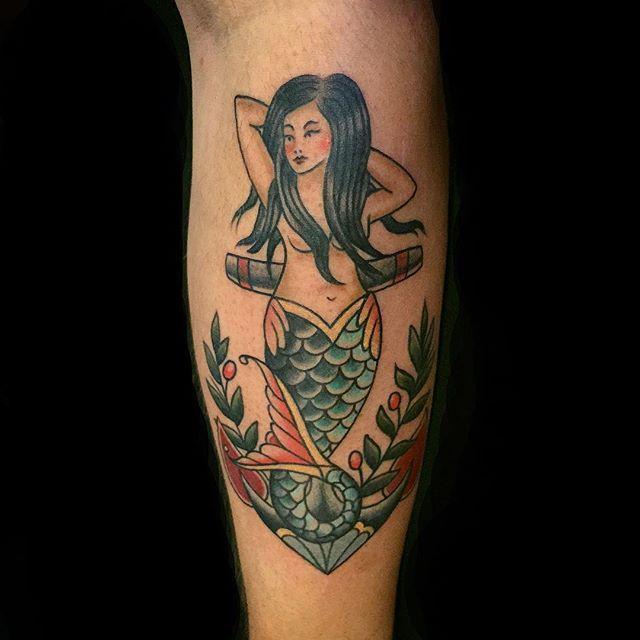 58 Ideas para Tatuajes de Sirenas (Significados) 16
