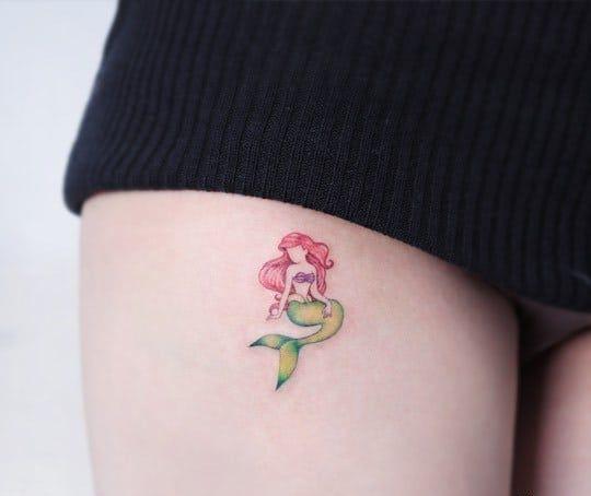 58 Ideas para Tatuajes de Sirenas (Significados) 44