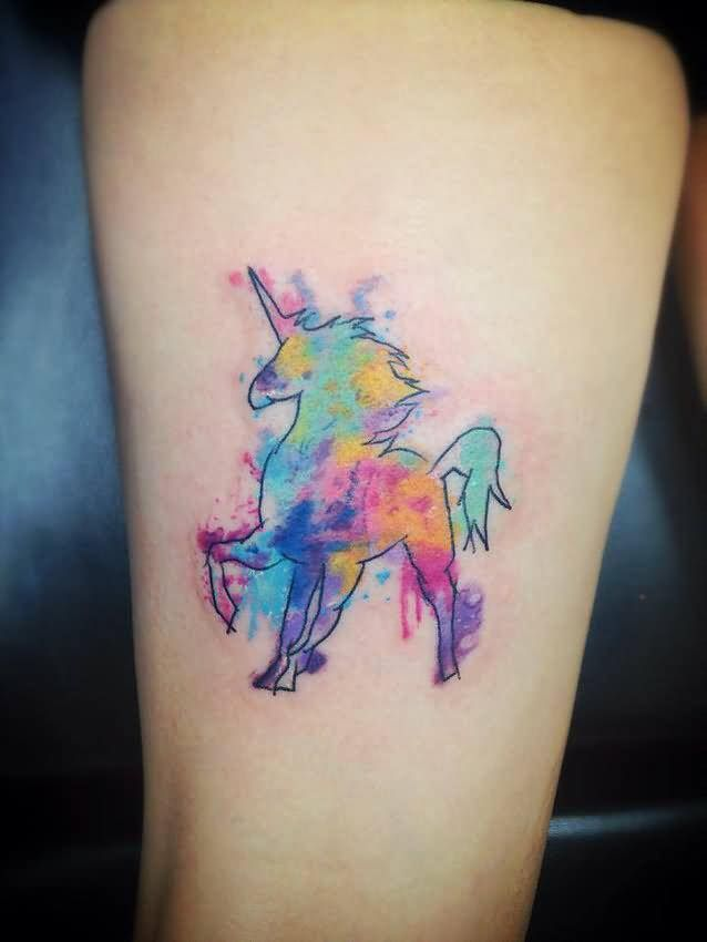 62 Ideas para Tatuajes de Unicornios (+Significados) 50