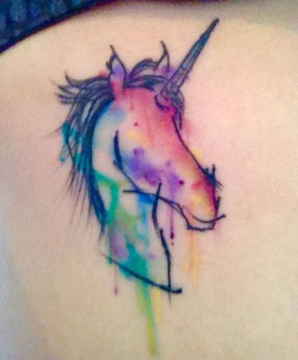 62  Ideas para Tatuajes de Unicornios (+Significados) 55