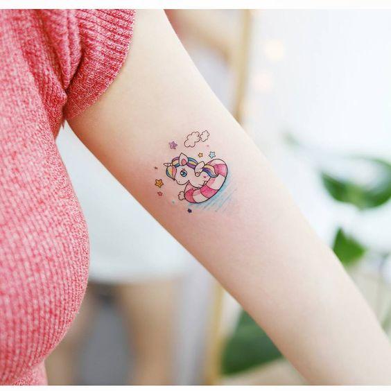 62 Ideas para Tatuajes de Unicornios (+Significados) 11