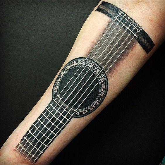 Tatuajes de Notas Musicales e Instrumentos 34