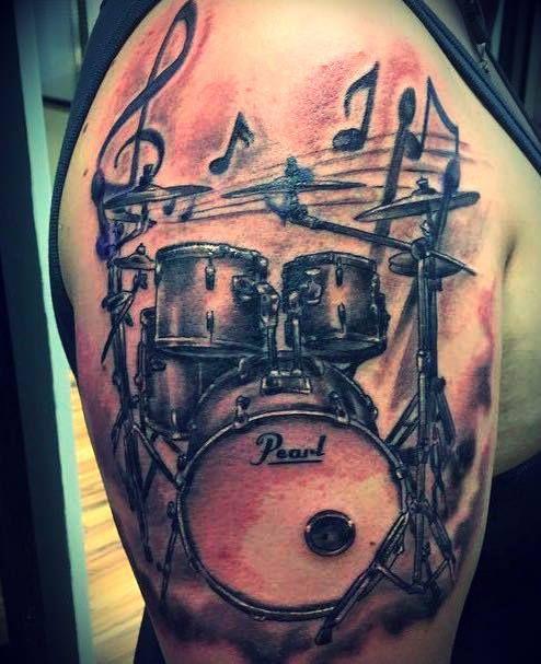Tatuajes de Notas Musicales e Instrumentos 35