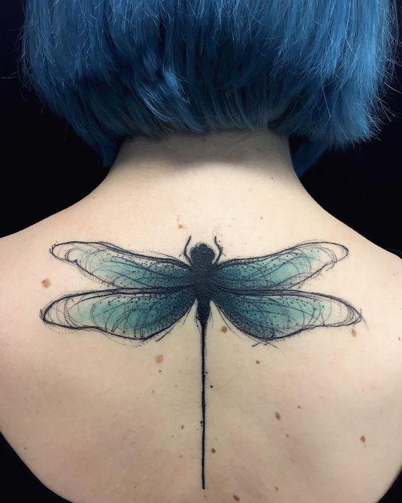 68 Tatuajes de Libélulas con sus Significados 18