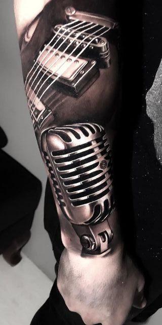Tatuajes de Notas Musicales e Instrumentos 19