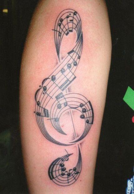 Tatuajes de Notas Musicales e Instrumentos 41