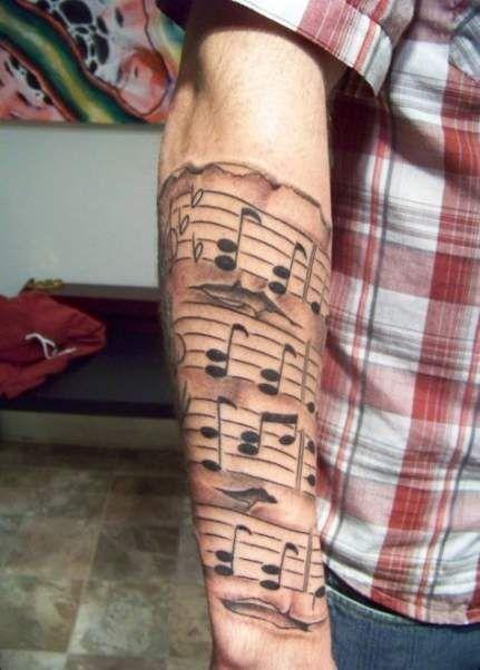 Tatuajes de Notas Musicales e Instrumentos 28
