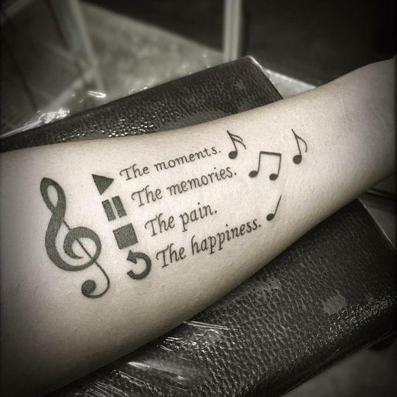 Tatuajes de Notas Musicales e Instrumentos 30