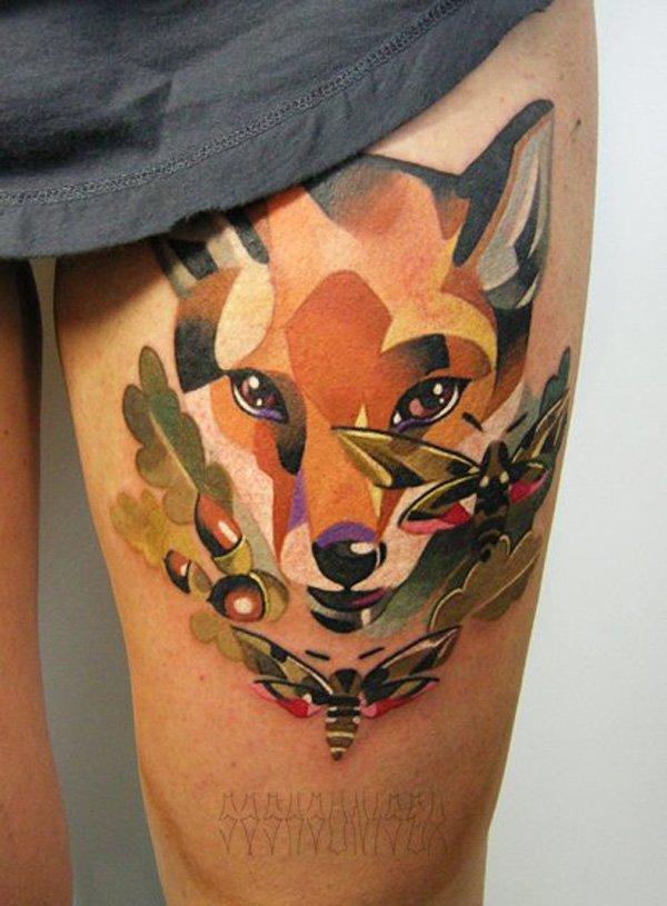 51 Tatuajes de zorros y sus significados 40