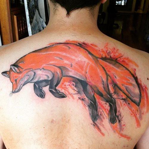 51 Tatuajes de zorros y sus significados 44