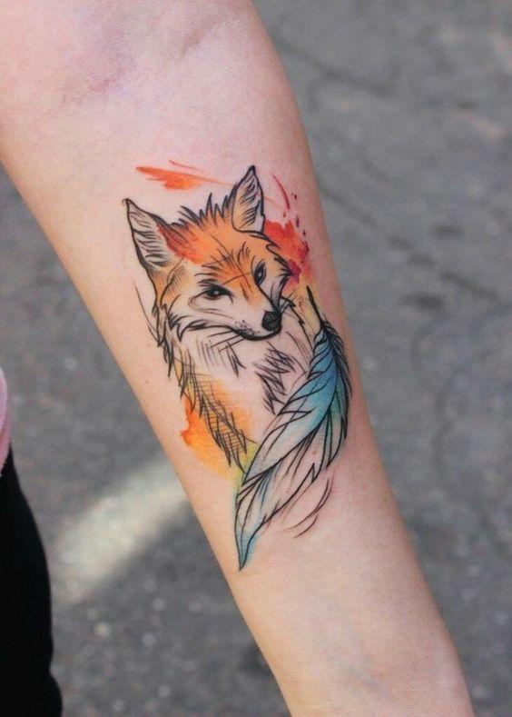 51 Tatuajes de zorros y sus significados 8