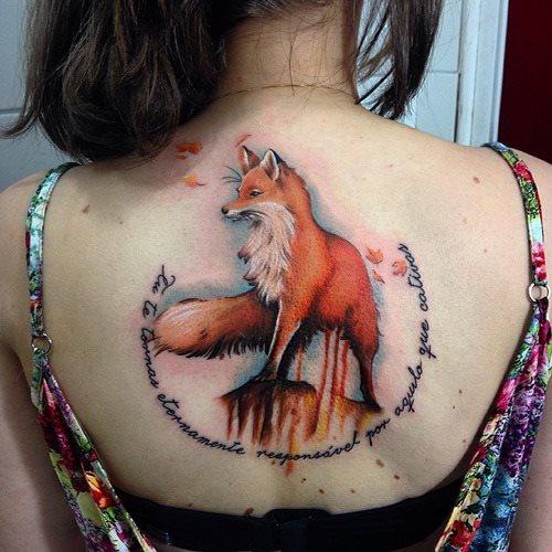 51 Tatuajes de zorros y sus significados 12