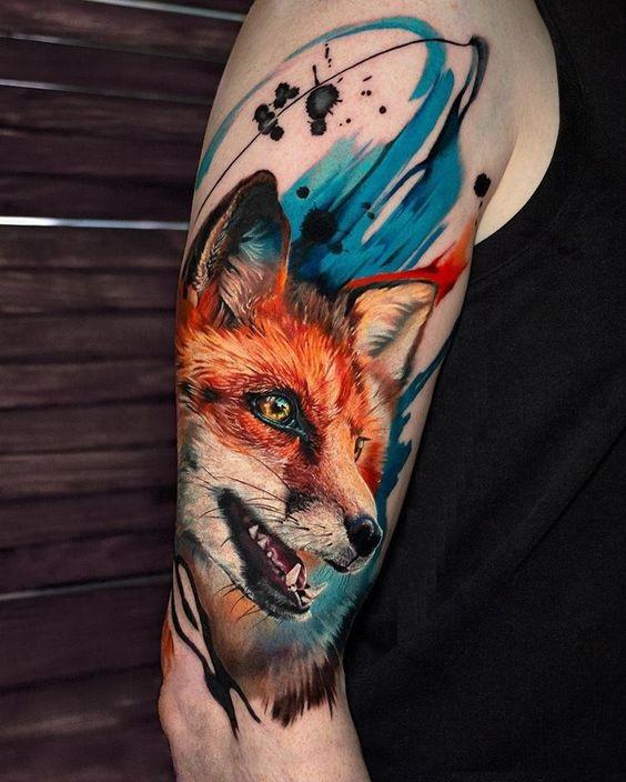 51 Tatuajes de zorros y sus significados 2