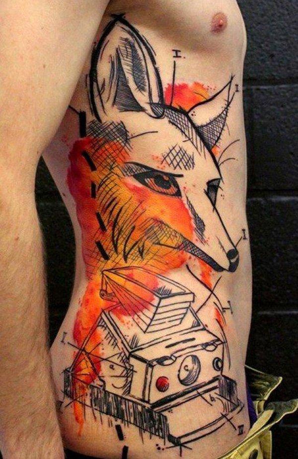 51 Tatuajes de zorros y sus significados 5