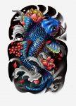 64 Ideas de Tatuajes de Pez Koi (+ Significados) 74