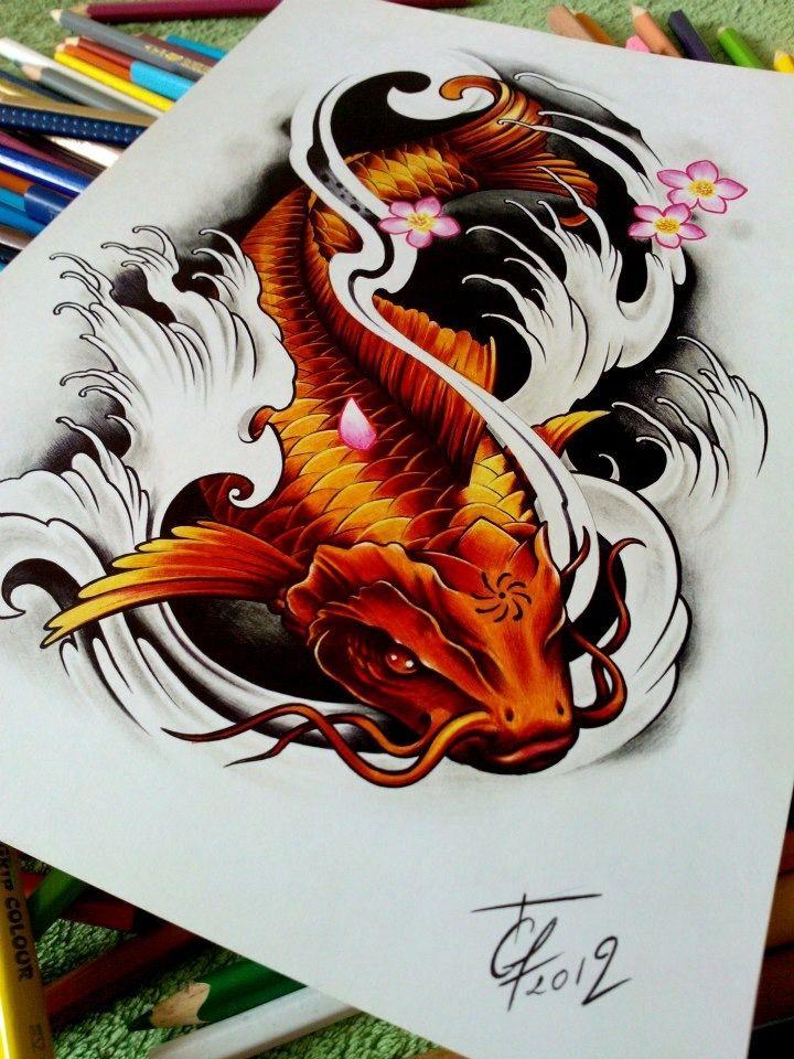 64 Ideas de Tatuajes de Pez Koi (+ Significados) 75