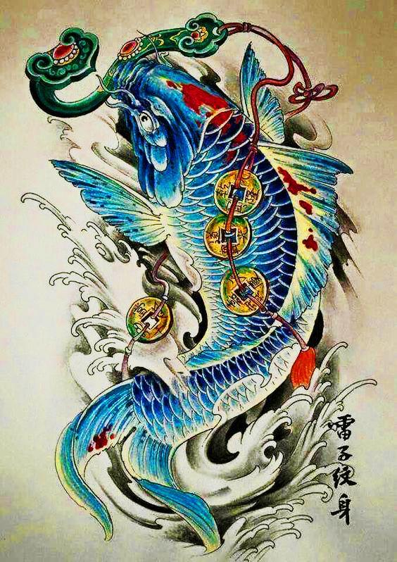 64 Ideas de Tatuajes de Pez Koi (+ Significados) 76