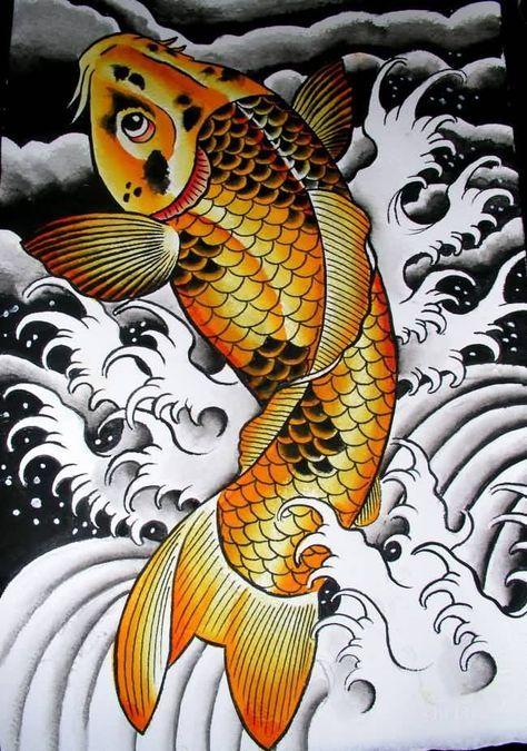 64 Ideas de Tatuajes de Pez Koi (+ Significados) 77