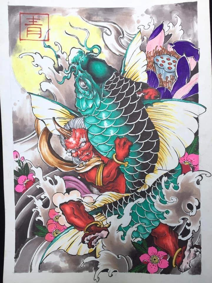 64 Ideas de Tatuajes de Pez Koi (+ Significados) 78