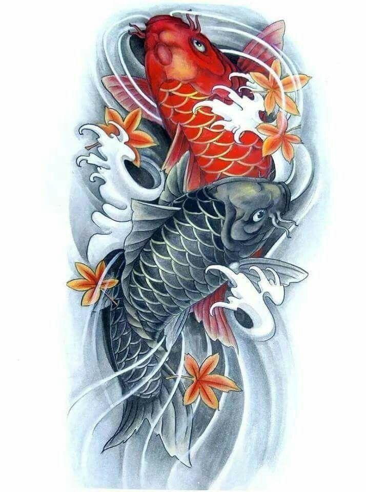 64 Ideas de Tatuajes de Pez Koi (+ Significados) 79