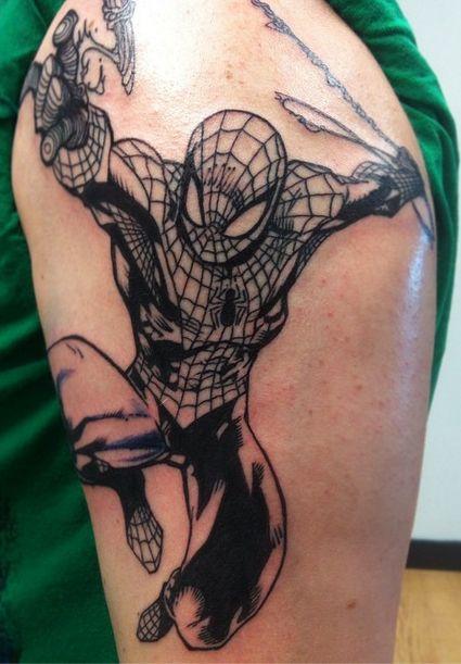 60 Ideas para Tatuajes de Spiderman (+Significados) 5