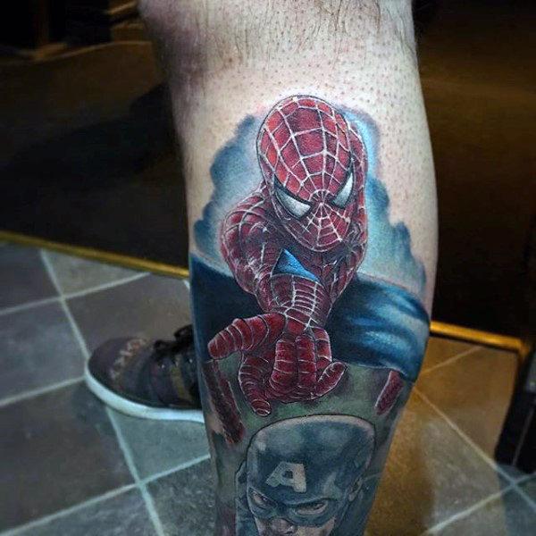 60 Ideas para Tatuajes de Spiderman (+Significados) 6