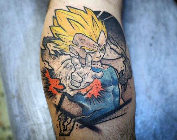 58 Mejores Tatuajes de Vegeta (+Significado) 3
