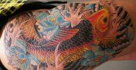 64 Ideas de Tatuajes de Pez Koi (+ Significados) 6