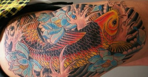 64 Ideas de Tatuajes de Pez Koi (+ Significados) 1