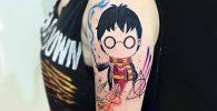 9 3/4 Ideas para Tatuajes de Harry Potter que todos los fans quieren 8