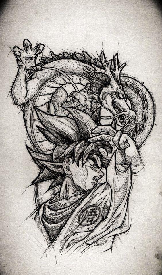 46 Mejores Tatuajes de Dragon Ball y variantes 30