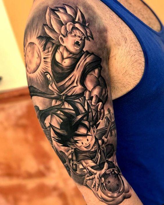 62 Mejores Tatuajes de Goku y sus Variantes 11