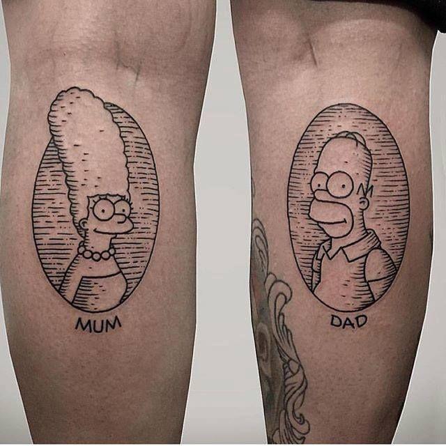 53 Tatuajes de los Simpson que te volaron la cabeza 39