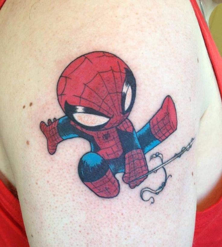 60 Ideas para Tatuajes de Spiderman (+Significados) 42