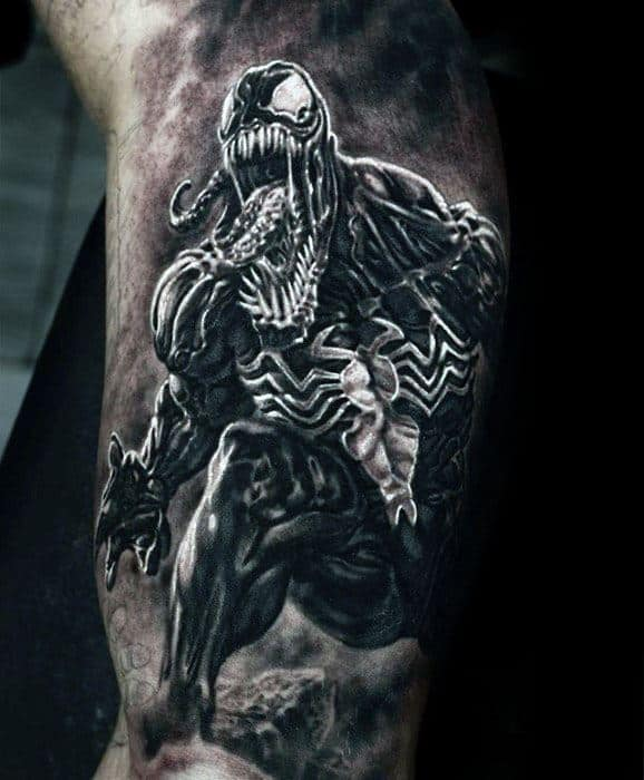 60 Ideas para Tatuajes de Spiderman (+Significados) 16