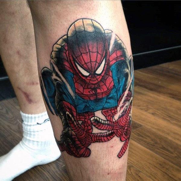 60 Ideas para Tatuajes de Spiderman (+Significados) 8