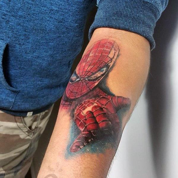 60 Ideas para Tatuajes de Spiderman (+Significados) 11