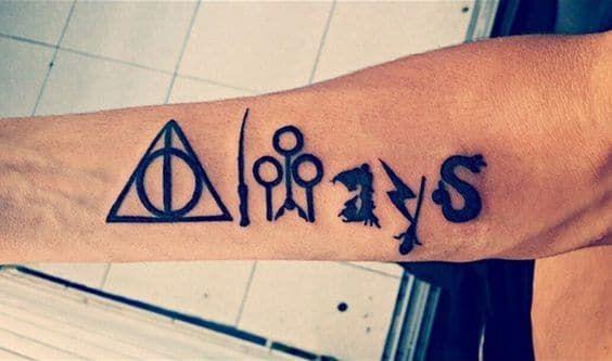 9 3/4 Ideas para Tatuajes de Harry Potter que todos los fans quieren 35