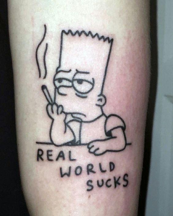 53 Tatuajes de los Simpson que te volaron la cabeza 15