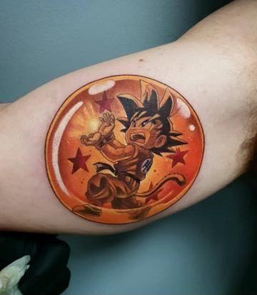 46 Mejores Tatuajes de Dragon Ball y variantes 18