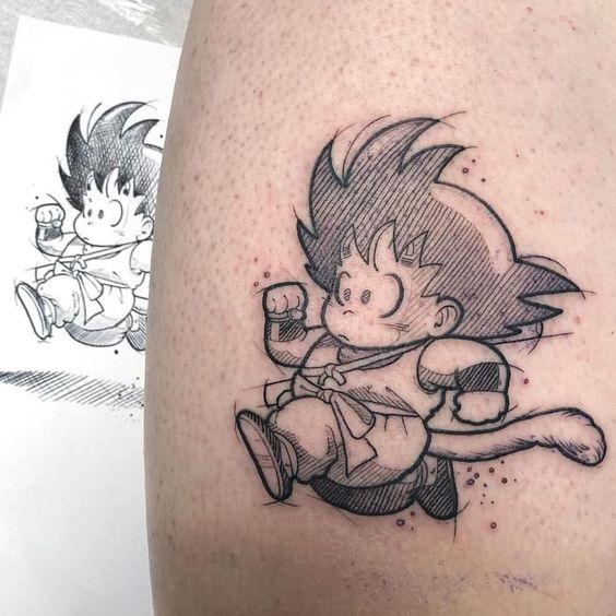 62 Mejores Tatuajes de Goku y sus Variantes 19