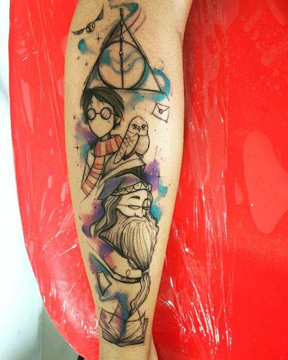 9 3/4 Ideas para Tatuajes de Harry Potter que todos los fans quieren 7