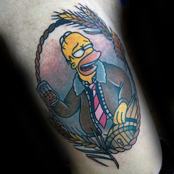 53 Tatuajes de los Simpson que te volaron la cabeza 24