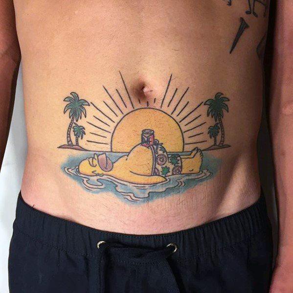 53 Tatuajes de los Simpson que te volaron la cabeza 25