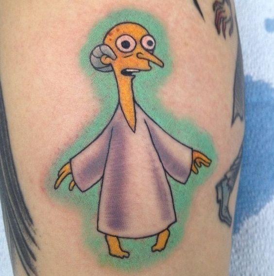 53 Tatuajes de los Simpson que te volaron la cabeza 53