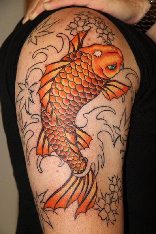 64 Ideas de Tatuajes de Pez Koi (+ Significados) 32