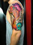 64 Ideas de Tatuajes de Pez Koi (+ Significados) 40