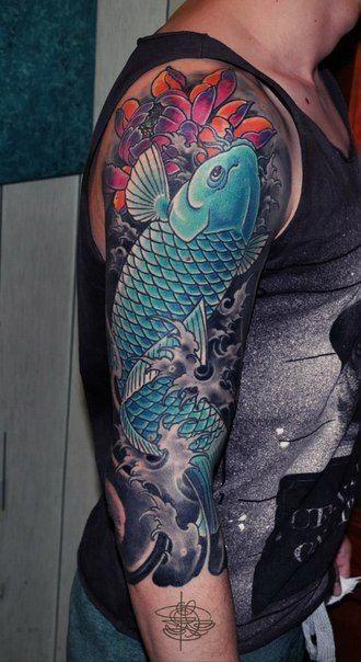 64 Ideas de Tatuajes de Pez Koi (+ Significados) 41