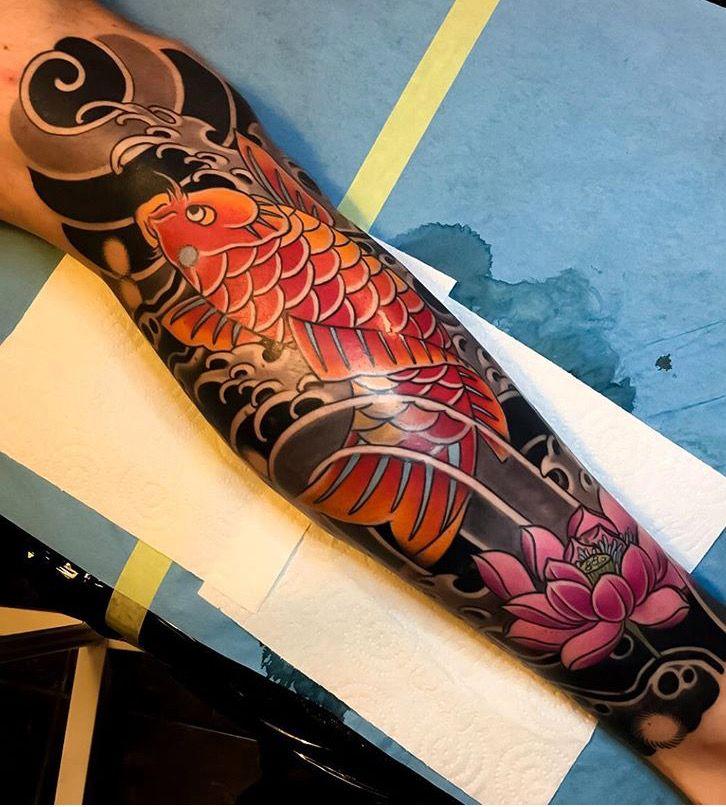 64 Ideas de Tatuajes de Pez Koi (+ Significados) 44