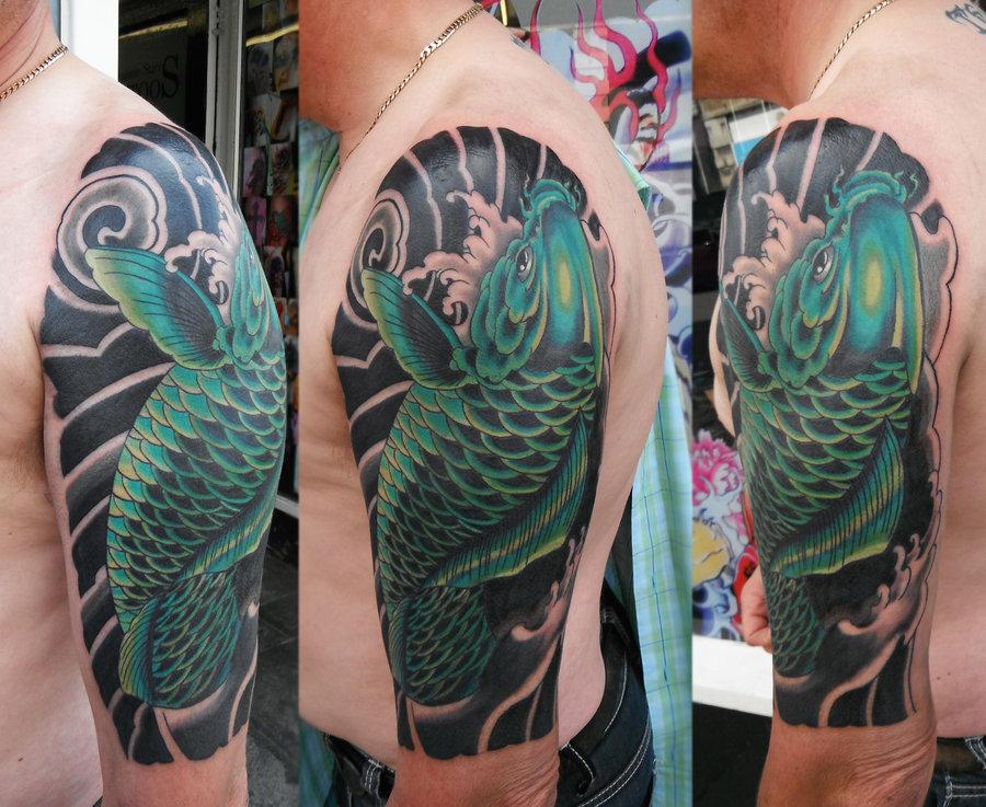 64 Ideas de Tatuajes de Pez Koi (+ Significados) 20